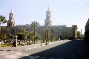 Cathedral on Plaza de Armas in Arequipa