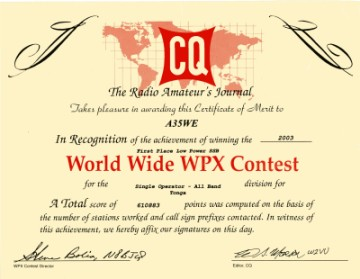 WPX Award for A35WE
