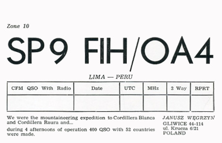 SP9FIH/OA4  in 1987