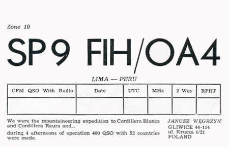 SP9FIH/OA4  in 1987